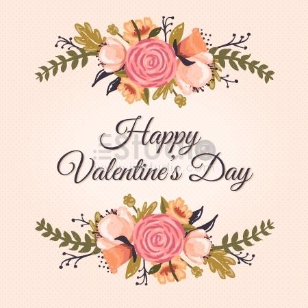 Floral Valentine's Greetings card