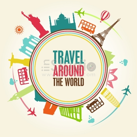 World travel vector free template