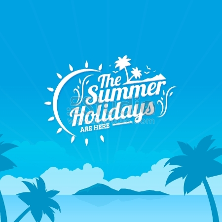 The summer holidays background