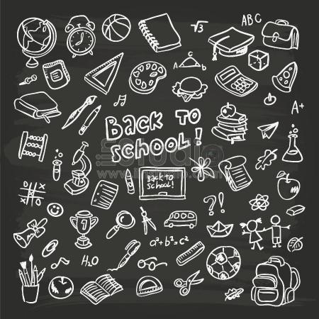 Hand-drawn school graphics