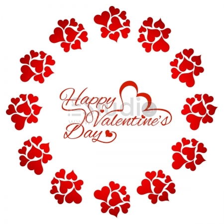 Beautiful red love card Free Vector