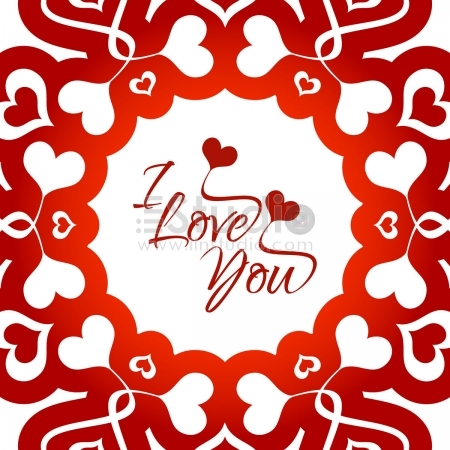 Beautiful love background Free Vector