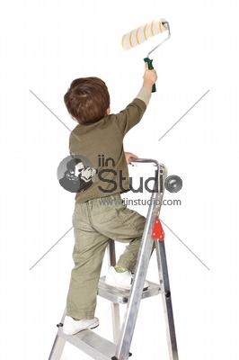 Kid on Painting