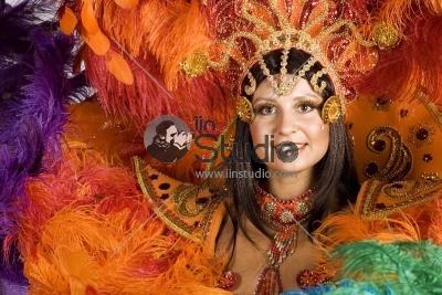 Beautiful Carnival Dancer, Amazing Costume