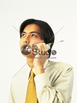 Smart man talking on phone